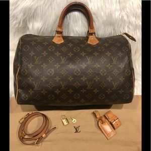 Louis Vuitton Speedy 35 ***With Accessories in Pic